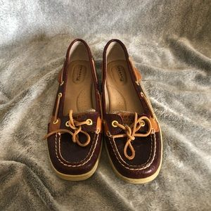 Sperry Size 8 Burgundy Loafers